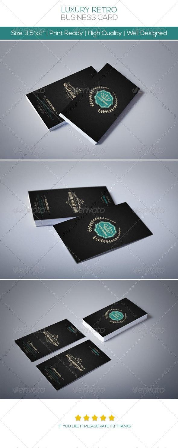 Luxury Retro Business Card - Creative Business Cards
