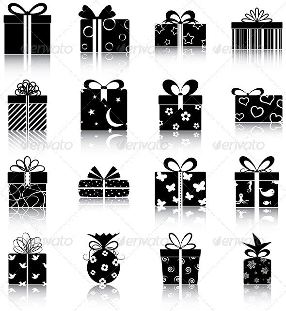 Gift Boxes Icons - Objects Icons