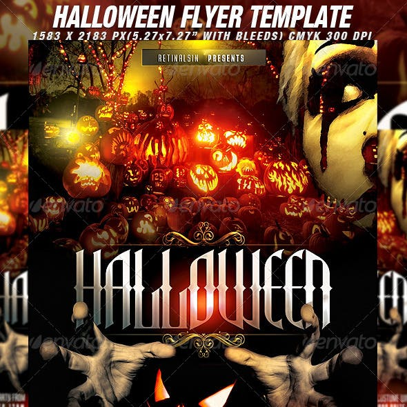 Halloween Flyer Template + Fb Cover