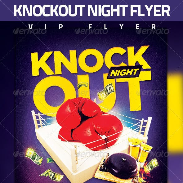 Knockout Boxing Flyer