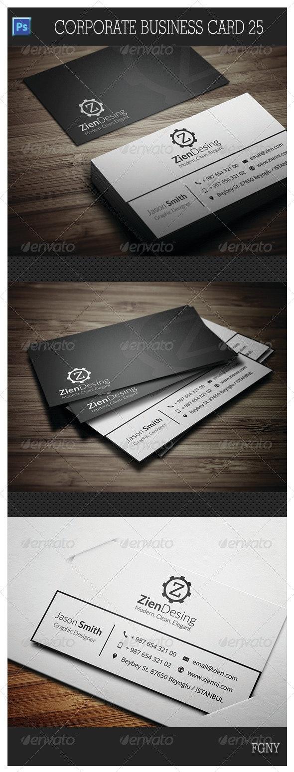Corporate Business Card 25 - Corporate Business Cards