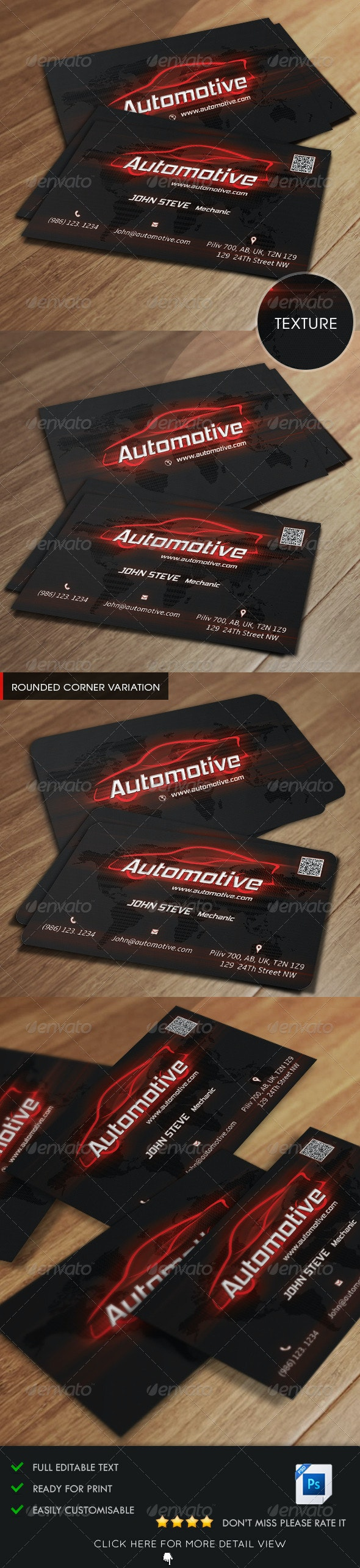 Automotive Business Card - Industry Specific Business Cards