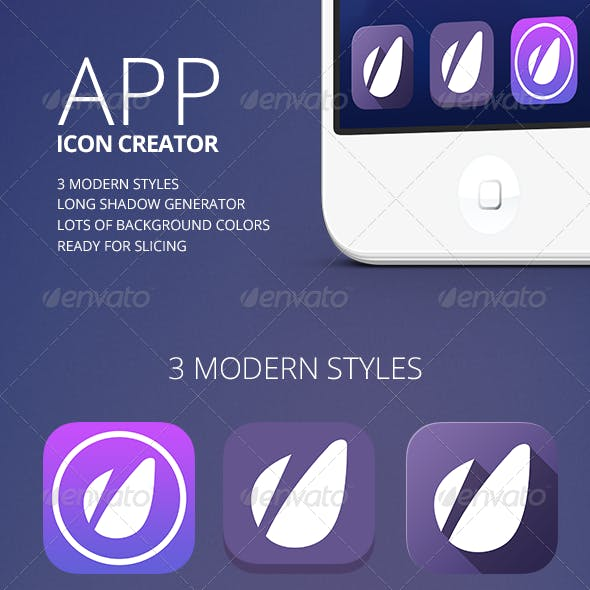 App Icon Creator with Flat Shadow Generator