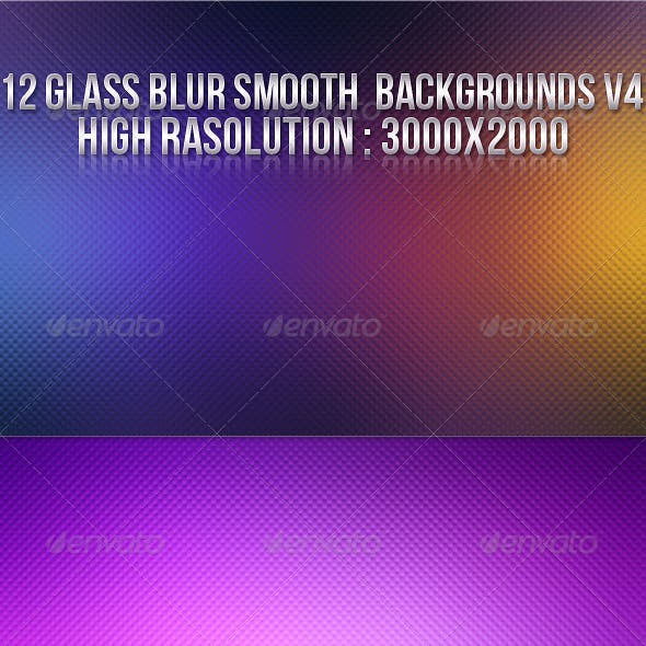 12 Glass Blur Backgrounds V4