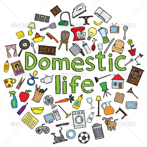 Domestic Life Illustration