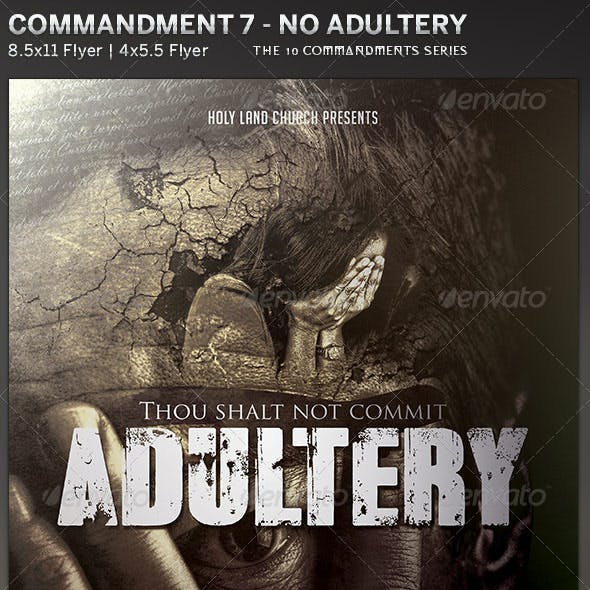 Adultery: Church Flyer Template