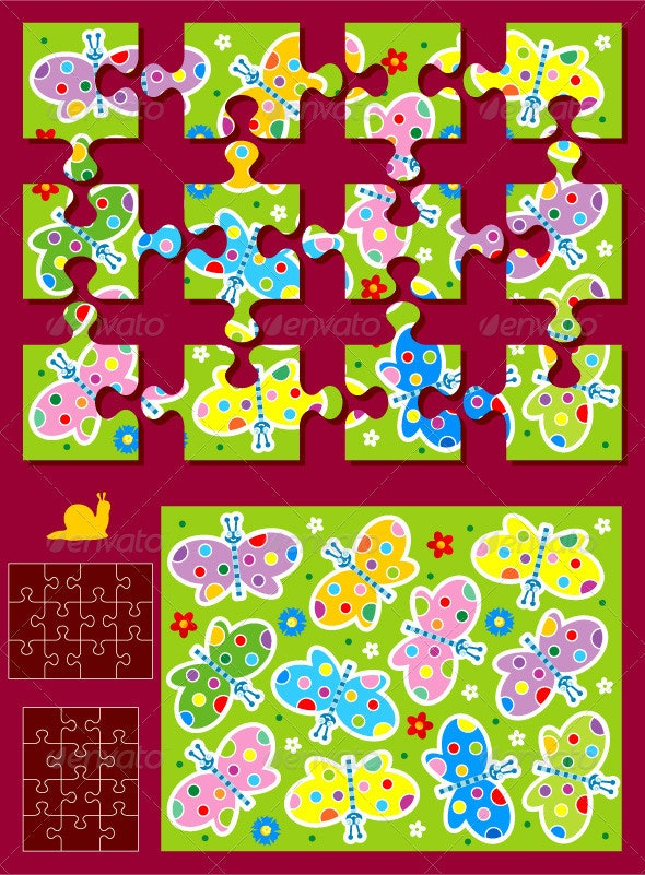 Butterflies Jigsaw Puzzle Kit - Nature Conceptual