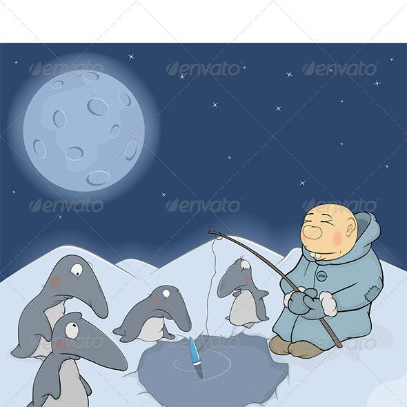 The Fisherman and Penguins