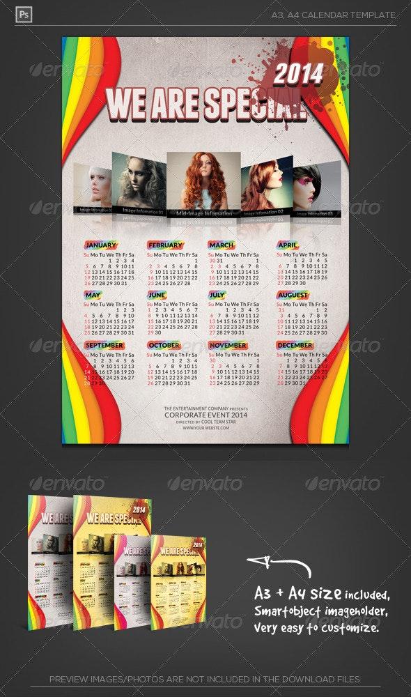 New Year Calendar 2014 - Calendars Stationery