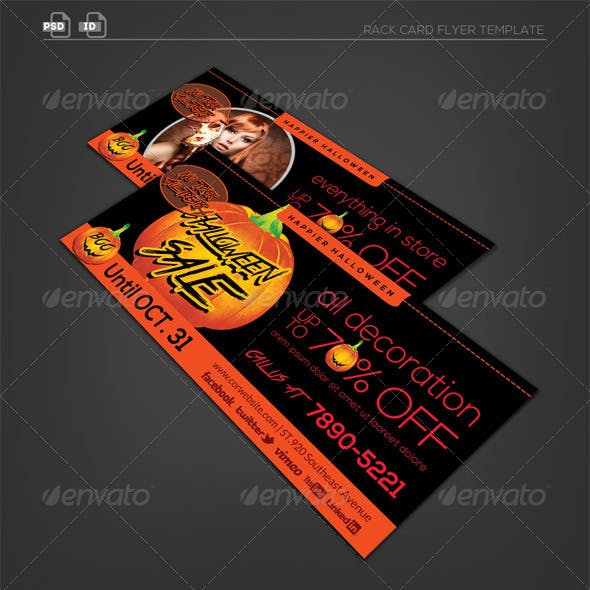 Halloween Rack Card Flyer