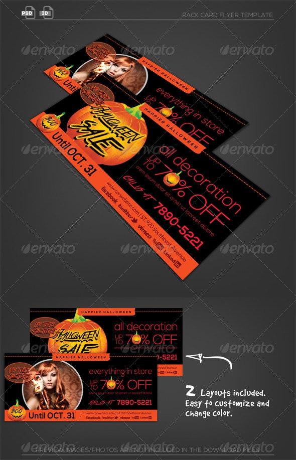 Halloween Rack Card Flyer - Corporate Flyers