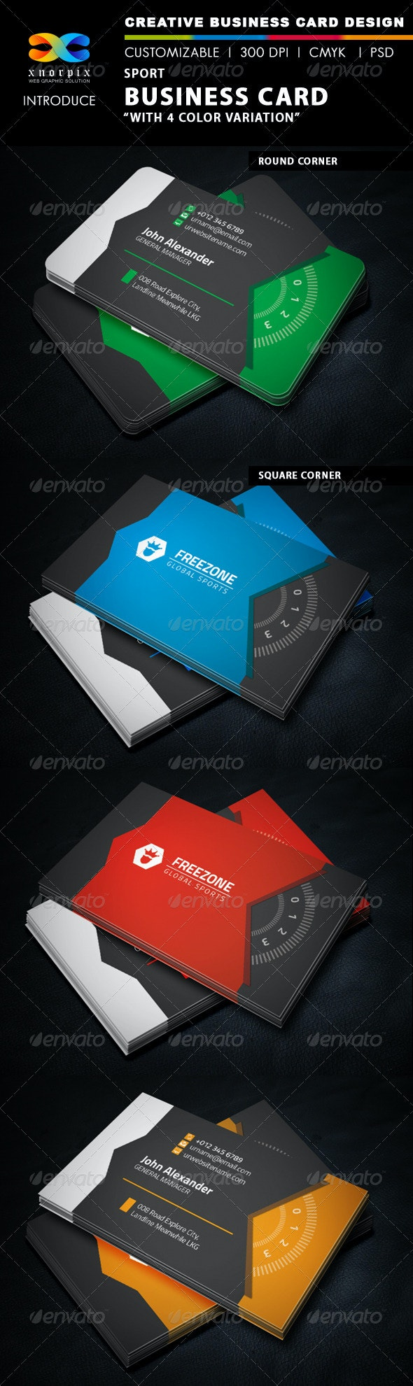 Sport Business Card - Corporate Business Cards