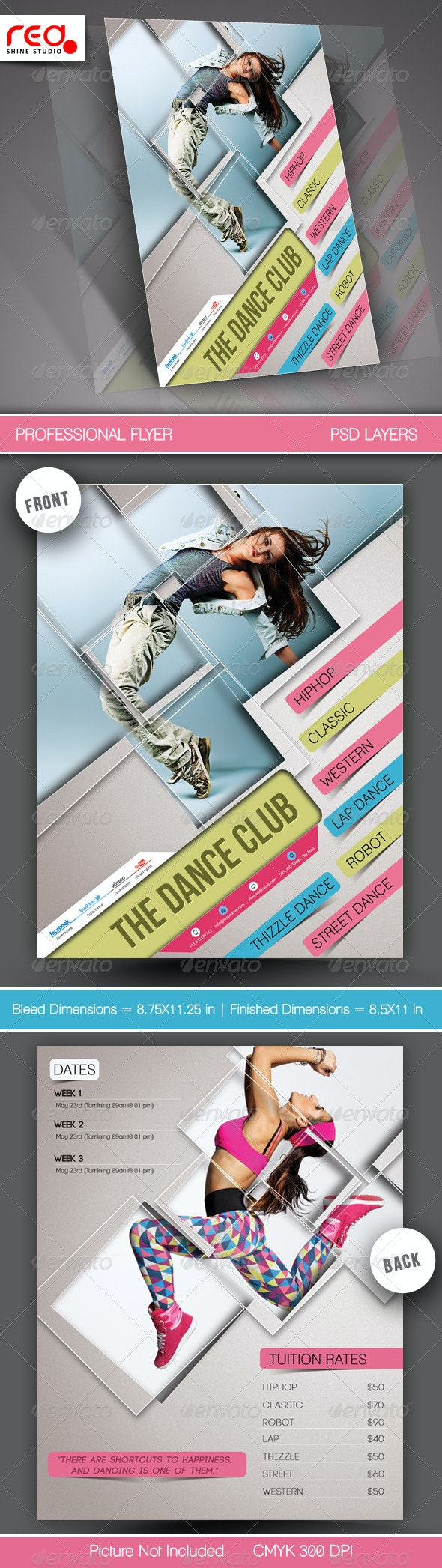 Dance Academy Flyer & Poster Template - Commerce Flyers
