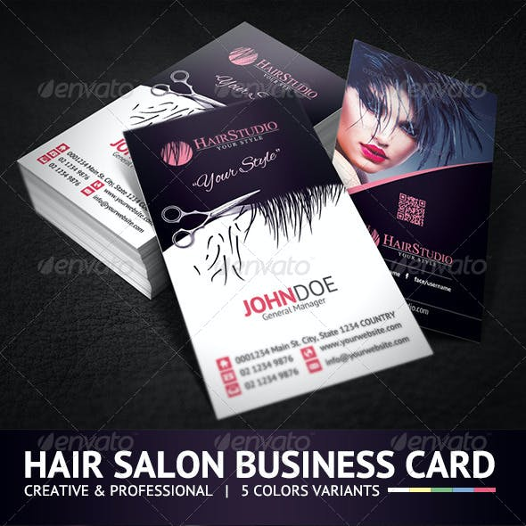 Creative Hair Salon Business Card