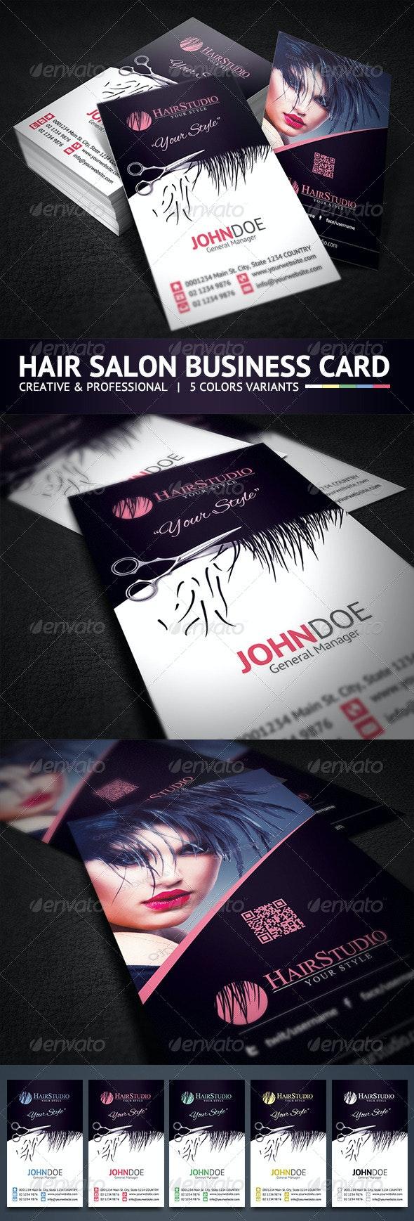 Creative Hair Salon Business Card - Creative Business Cards