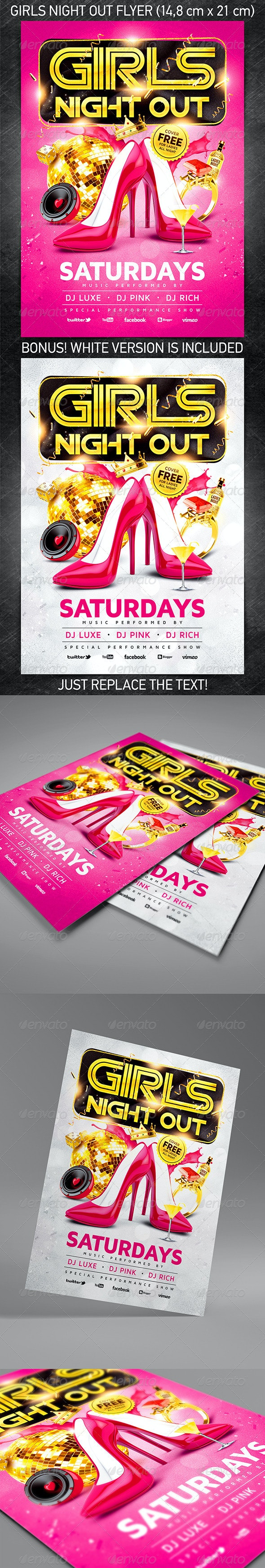 Girls Night Out Party Flyer - Events Flyers