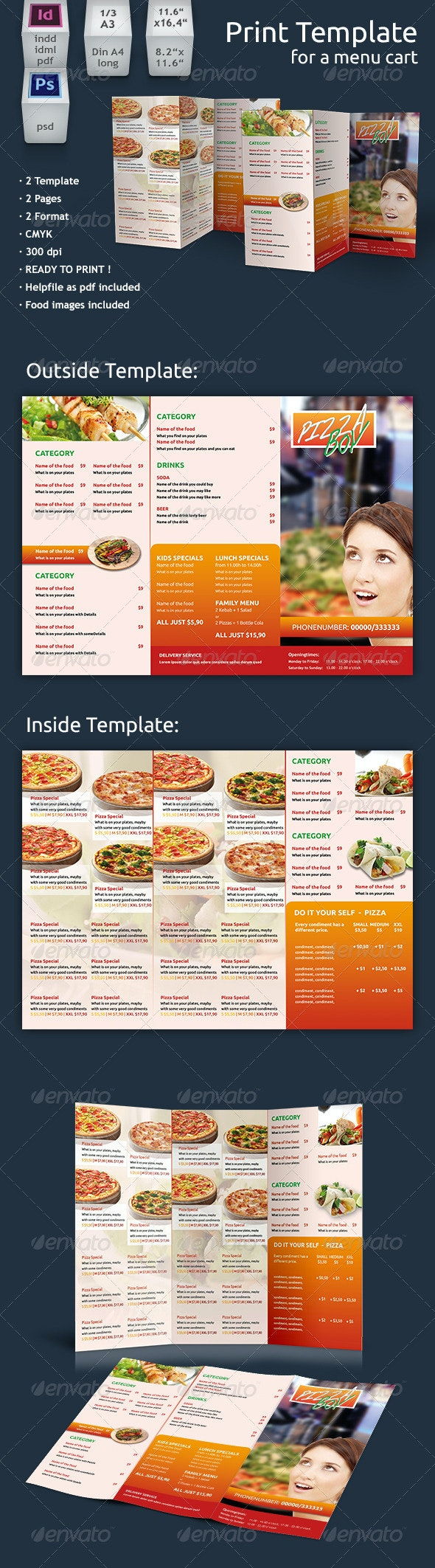 Restaurant Menu Print Template - Restaurant Flyers
