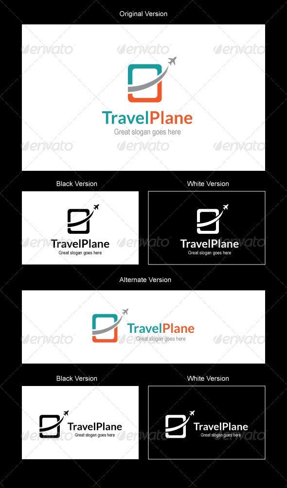 Travel Plane Logo Design - Symbols Logo Templates