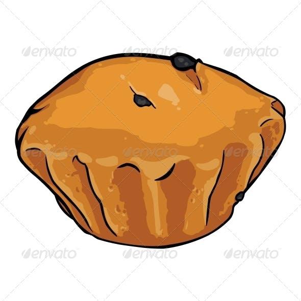 Vector Cartoon Plum Cake