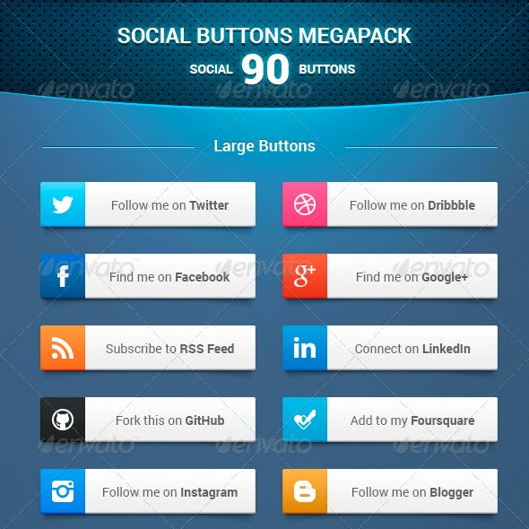 Social Buttons Megapack