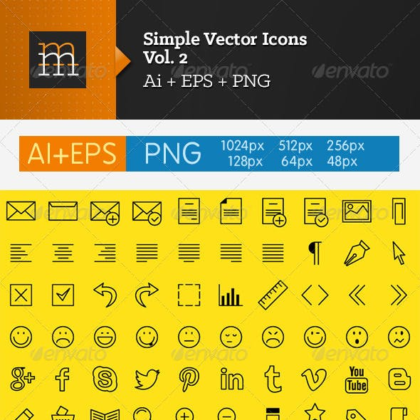 Simple Vector Icons - Vol. 2