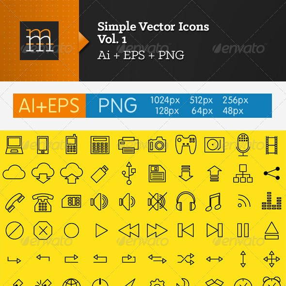 Simple Vector Icons - Vol. 1