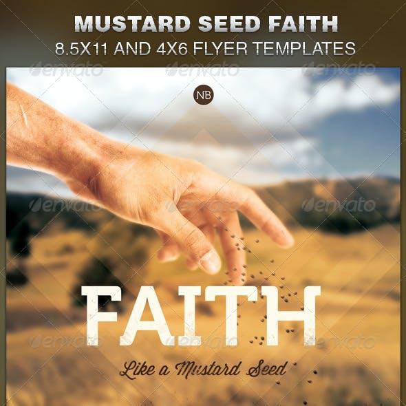 Mustard Seed Faith Church Flyer Template