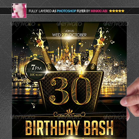 Birthday Bash Poster/Flyer