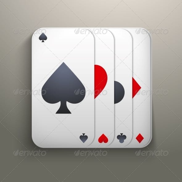 Realistic Deck of Playing Cards for Casino