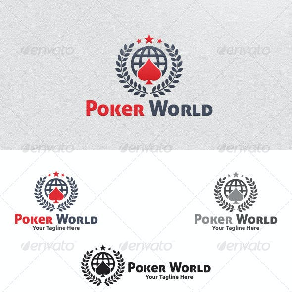 Poker World - Logo Template
