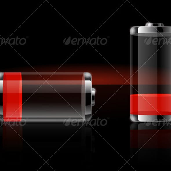 Glossy Transparent Battery