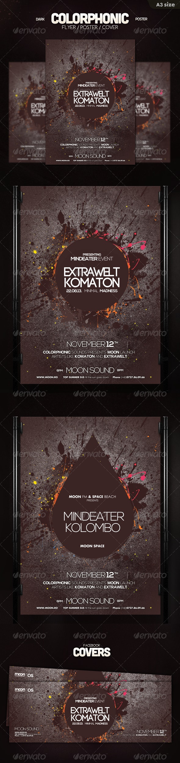 Dark Colorphonic Poster - Clubs & Parties Events