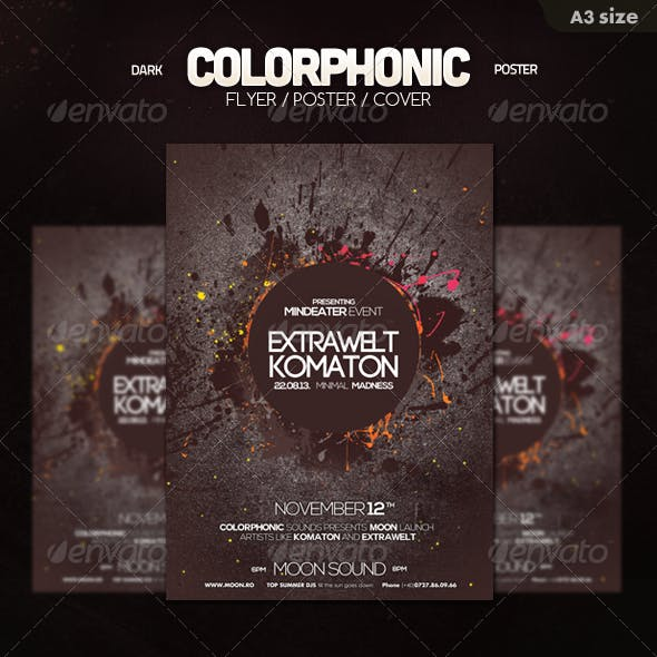Dark Colorphonic Poster