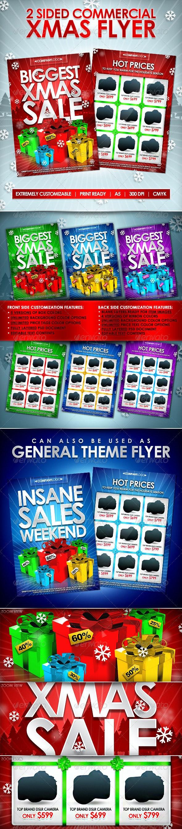 X-Mas Commercial Flyer - 2 Sides - Editable Colors - Commerce Flyers