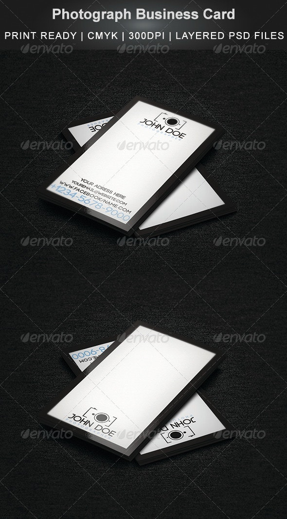 Photograph Business Card - Industry Specific Business Cards