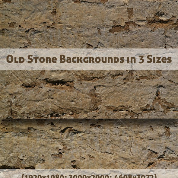 Old Stone Backgrounds in 3 Sizes