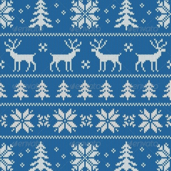 Seamless Pattern with Classical Sweater Design
