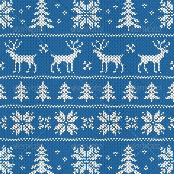 Seamless Pattern with Classical Sweater Design - Patterns Decorative