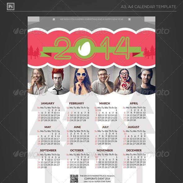Happy Holiday Calendar 2014