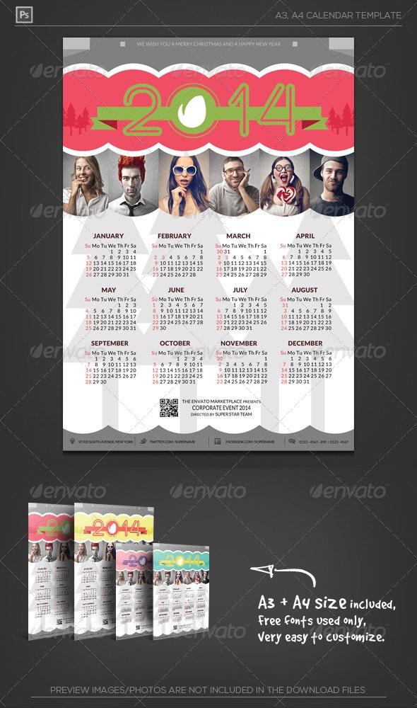 Happy Holiday Calendar 2014 - Calendars Stationery