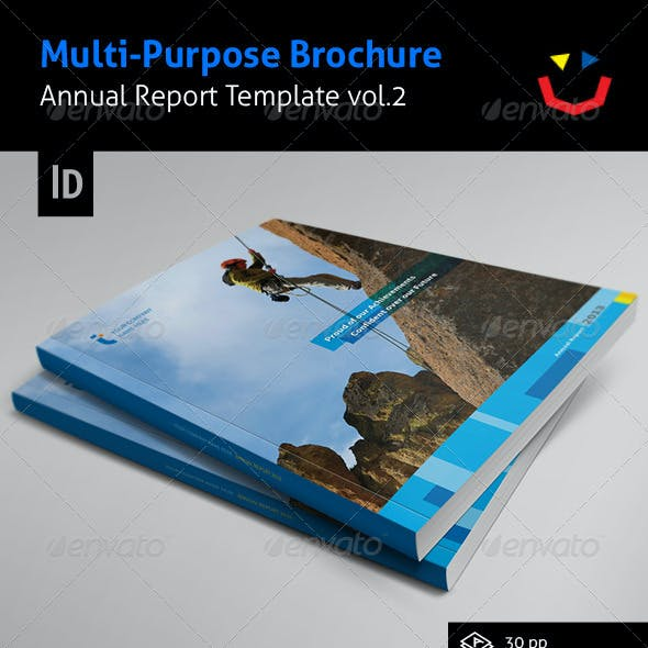 Annual Report Design Template Vol.2