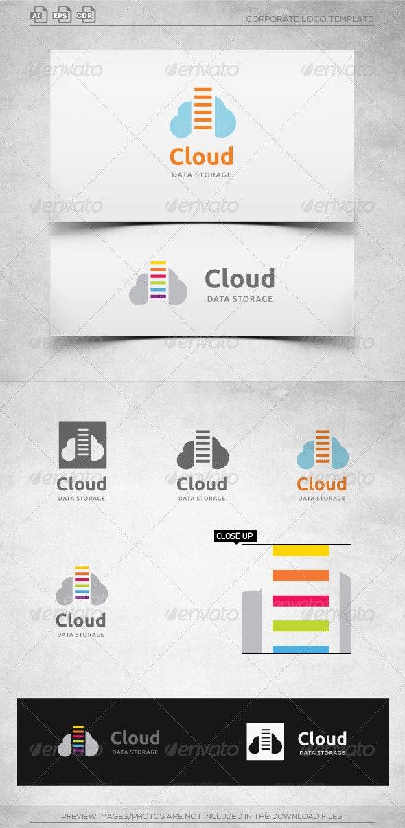 Cloud Data Storage-Logo Template