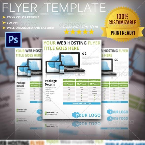 Webhosting Flyer Template