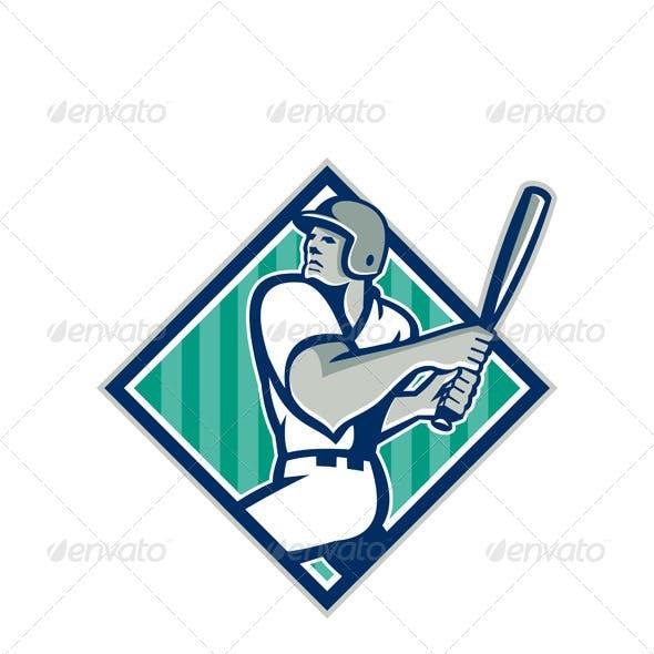 Retro Baseball Batting Diamond