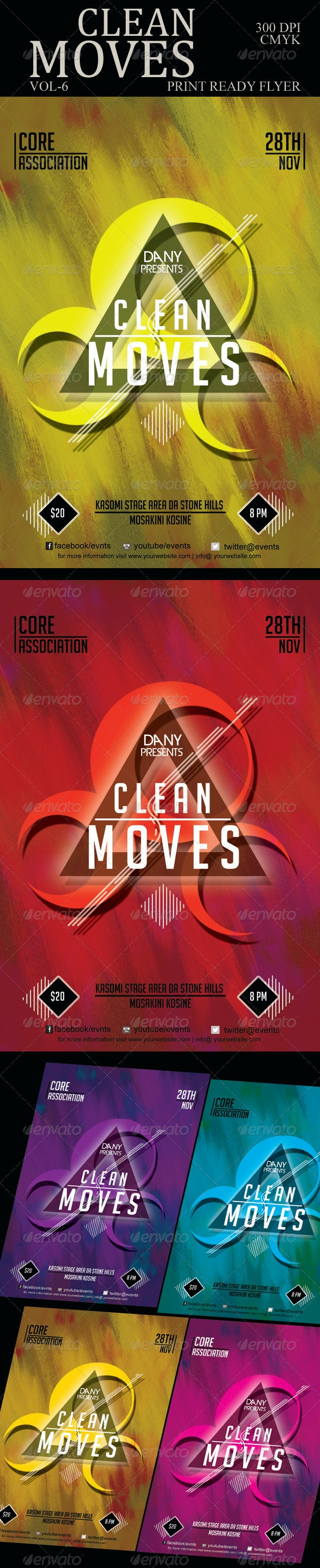 Clean Moves Flyer 6 - Clubs & Parties Events