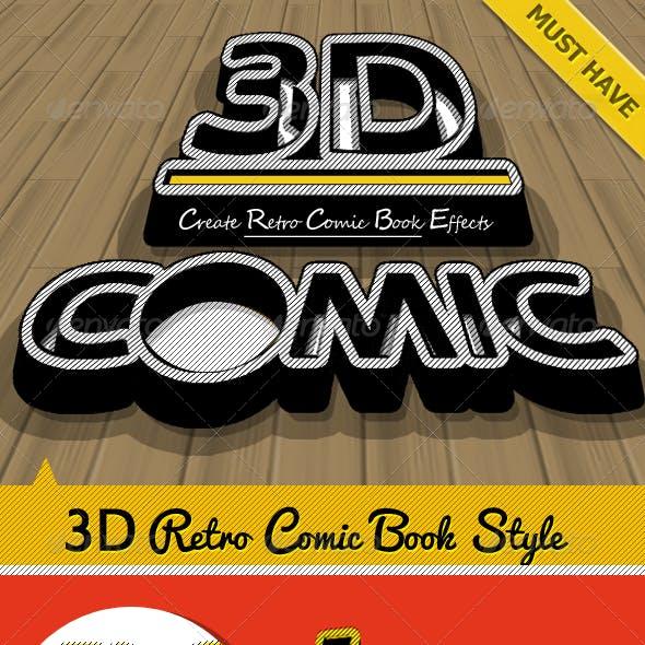 3D Retro Comic Book Photoshop Maker