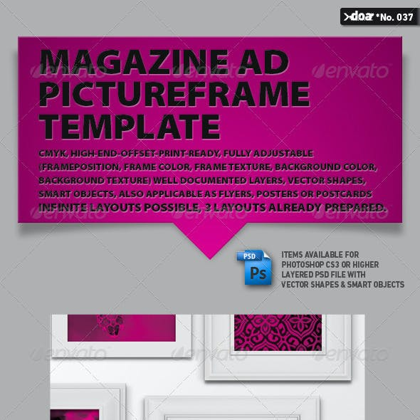 Magazine AD  Pictureframe Template