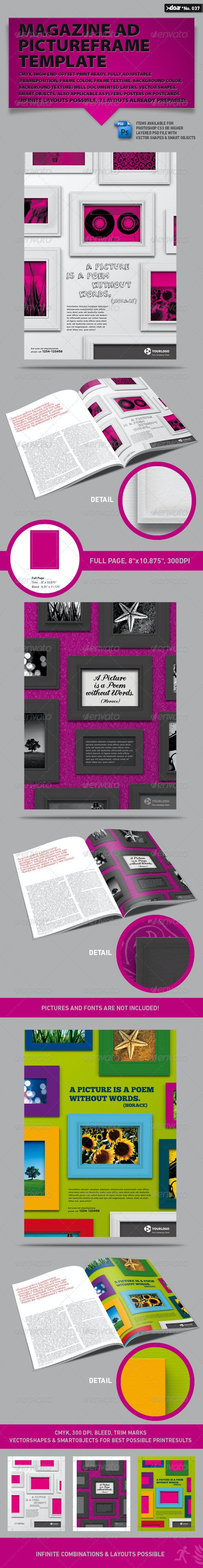 Magazine AD  Pictureframe Template - Corporate Flyers