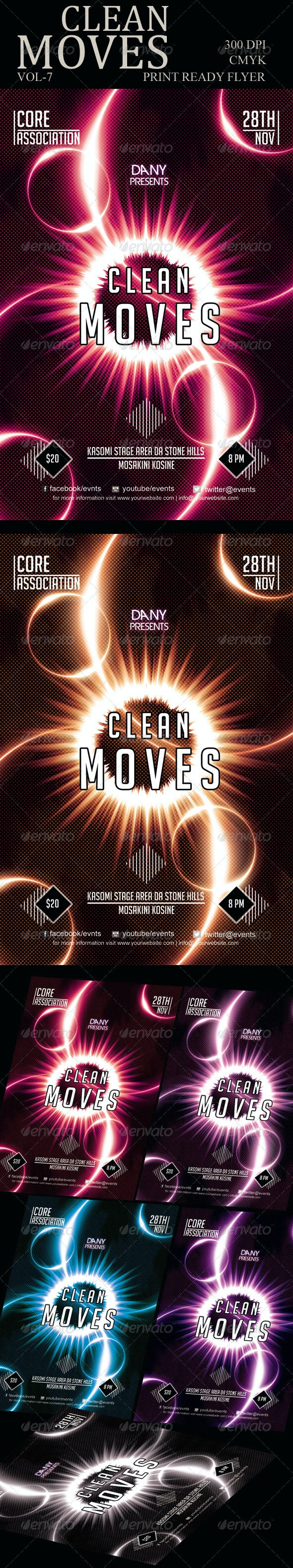 Clean Moves Flyer 7 - Clubs & Parties Events