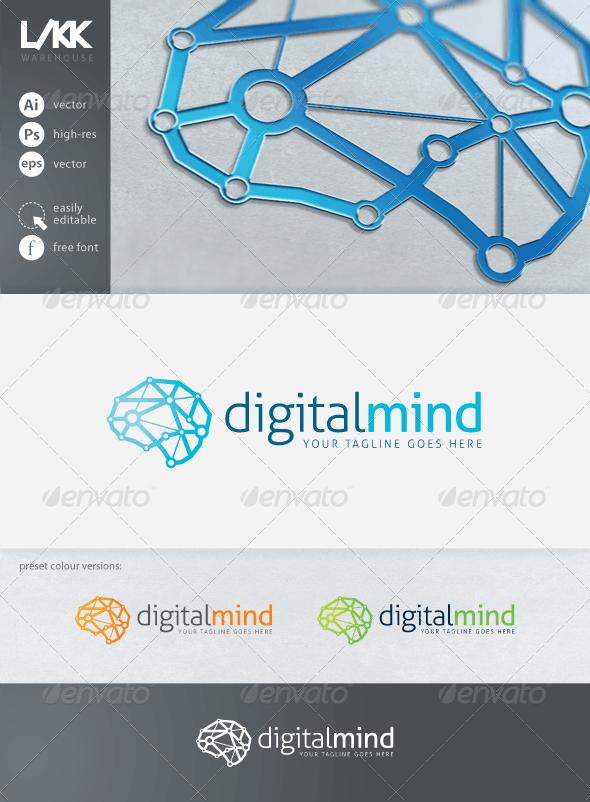 DigitalMind logo - Objects Logo Templates